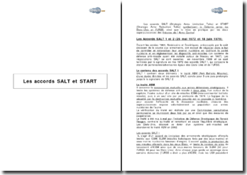 Les accords SALT et START