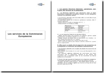 Les services de la Commission Européenne