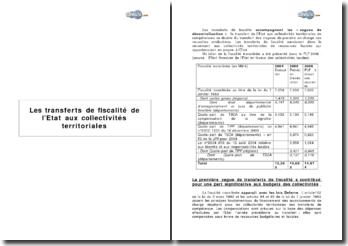 Les transferts de fiscalité de l'Etat aux collectivités territoriales