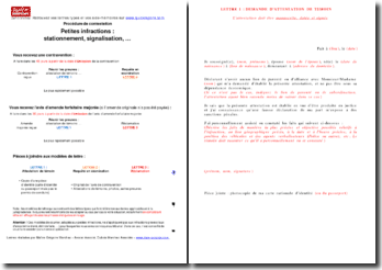Contestation petites infractions (QUICKREPONS)