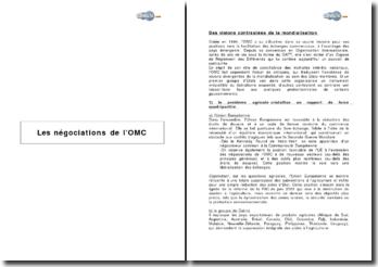 Les négociations de l'OMC