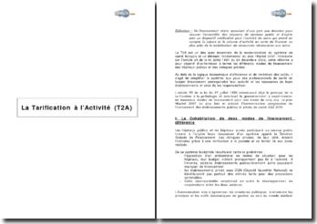 La Tarification à l'Activité (T2A)