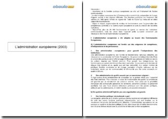 L'administration européenne (2003)