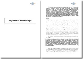 La procédure de comitologie