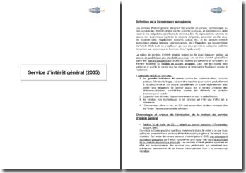 Service d'intérêt général (2005)