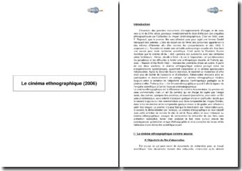 Le cinéma ethnographique (2006)