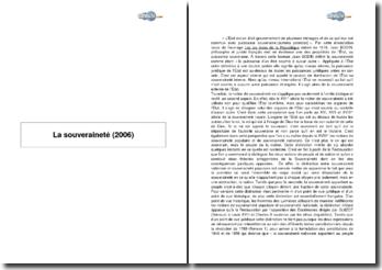 La souveraineté (2006)