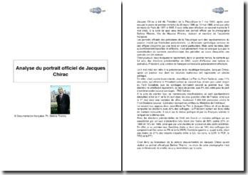 Analyse du portait officiel de Jacques Chirac
