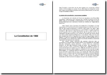 La Constitution de 1988