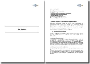Le Japon - démographie, géographie, industries et place internationale