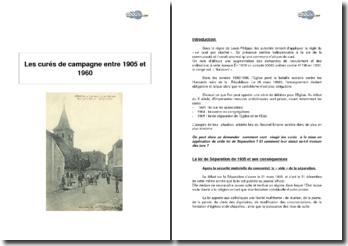 Les curés de campagne entre 1905 et 1960