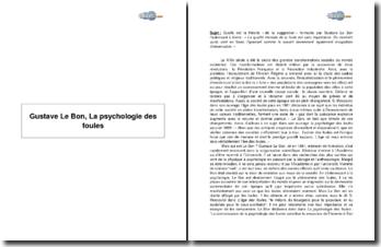 Gustave Le Bon, La psychologie des foules