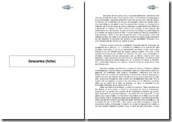 Descartes (fiche)