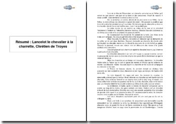 Résumé : Lancelot le chevalier à la charrette, Chrétien de Troyes