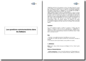 Les questions communautaires dans les Balkans