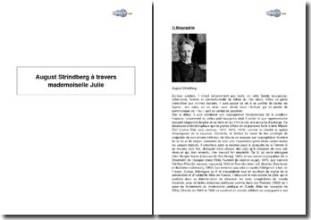 August Strindberg à travers mademoiselle Julie