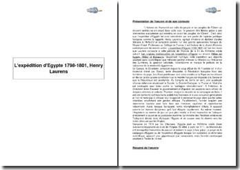 L'expédition d'Egypte 1798-1801, Henry Laurens