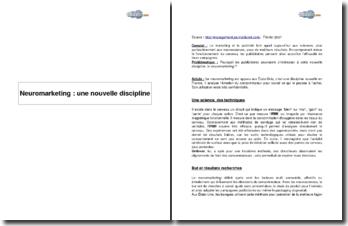 Neuromarketing : une nouvelle discipline