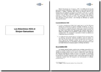 Les théorèmes HOS et Stolper-Samuelson