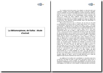 La Métamorphose, de Kafka : étude d'extrait