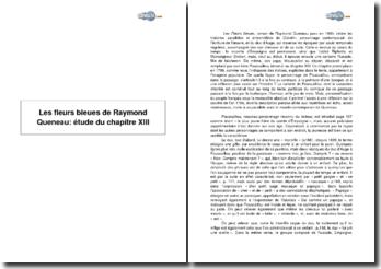 Les fleurs bleues de Raymond Queneau: étude du chapitre XIII