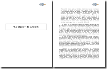 La Cigale de Jean Anouilh