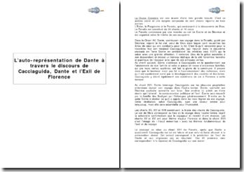 L'auto-représentation de Dante à travers le discours de Cacciaguida, Dante et l'Exil de Florence