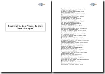 Baudelaire, Les Fleurs du mal : Une charogne
