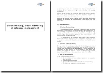 Merchandising, marketing associé et gestion par catégorie