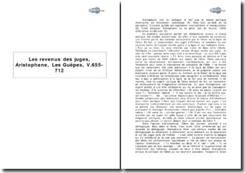 Les revenus des juges, Aristophane, Les Guêpes, V.655-712