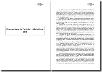 Article 1145 du Code civil - les obligations négatives