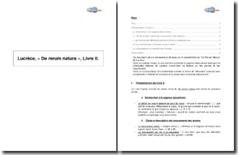 Lucrèce, « De rerum natura », Livre II