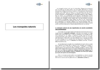 Les monopoles naturels (2008)