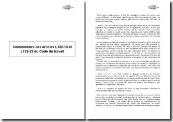 Articles L132-13 et L132-23 du Code du travail - articulation entre accords d'entreprise et les diverses conventions de branche