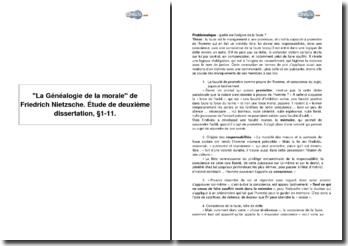 La Généalogie de la morale de Friedrich Nietzsche - deuxième dissertation, 1-11