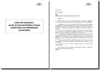 Lettre De Motivation Pour Moniteur Bibliotheque