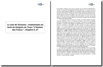 Le vase de Soissons : L'Histoire des Francs de Grégoire de Tours, Chapitre II, 27