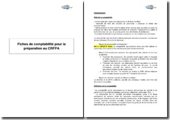 Synthèse de comptabilité pour la préparation au CRFPA