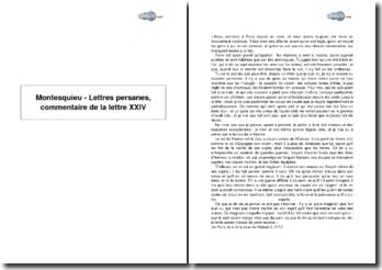 Montesquieu - Lettres persanes, lettre XXIV