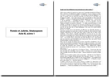 Roméo et Juliette, Shakespeare : Acte III, Scène 1