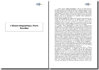 L'illusion biographique, Pierre Bourdieu
