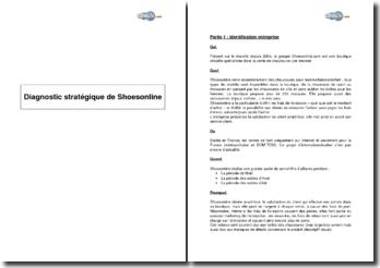 Diagnostic stratégique de Shoesonline