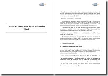 Décret nº 2005-1678 du 28 décembre 2005 : procédure civile d'exécution