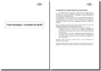 Le modèle IS-LM-BP