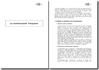 La communauté française : un nouveau statut pour les colonies dans la Constitution de 1958