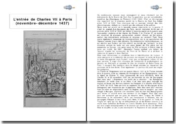 L'entrée de Charles VII à Paris (novembre-décembre 1437)