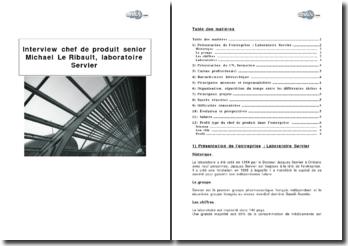 Interview : chef de produit senior Michael Le Ribault, laboratoire Servier