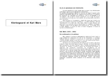 Kierkegaard et Karl Marx