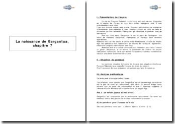 La naissance de Gargantua, chapitre 7