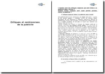 Critiques et controverses de la publicité - d'après un article de François Brune, co-fondateur de RAP (Résistance à l'agression publicitaire)